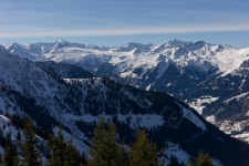 Вид на зоны катания Sportgastein и Stubnerkogel