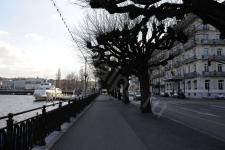 Набережная Женевы в феврале