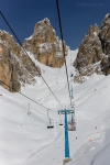 Подъёмник на Forcella Staunies, 2930 м. Кристалло.