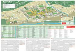 Карта города Аоста