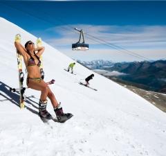 Реклама Тиньского горнолыжного кластера